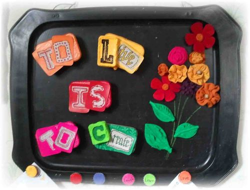 Upcycled Magnetic Chalkboard Pic 6