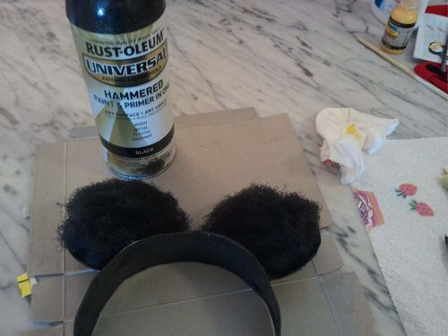 Upcycled Mini Mouse Ears 14