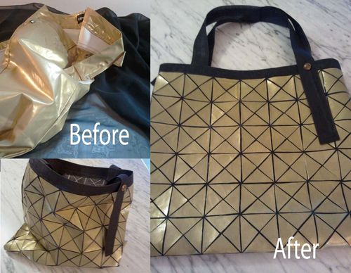 Upcycled Bao Bao Bag - Before and After