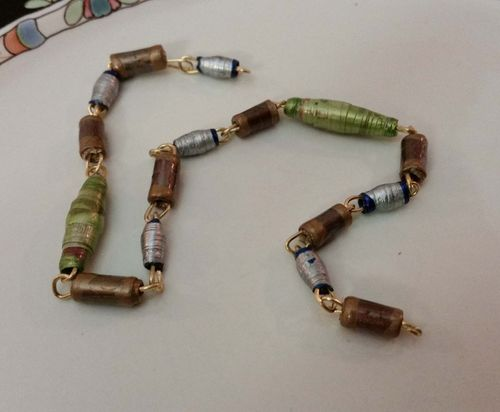 Upcycled Junk Mail Paper Bead Jewelry 19