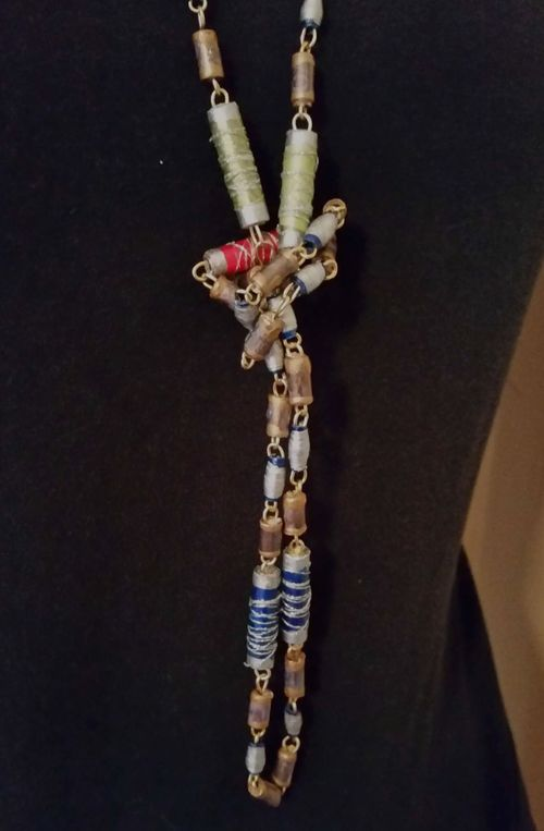 Upcycled Junk Mail Paper Bead Jewelry 22