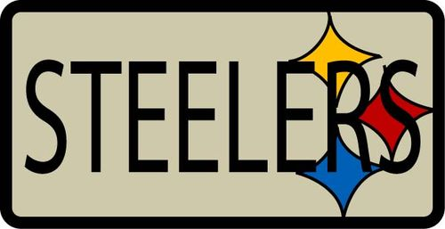 Steelers Patch - Upcycled Jacket Embroidey Cover Up Pic 2