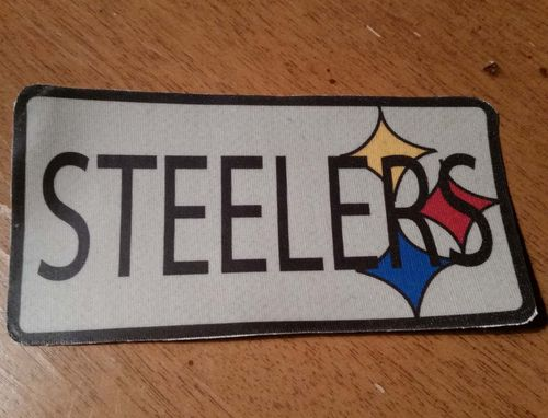 Steelers Patch - Upcycled Jacket Embroidey Cover Up Pic 8