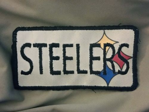 Steelers Patch - Upcycled Jacket Embroidey Cover Up Pic 10