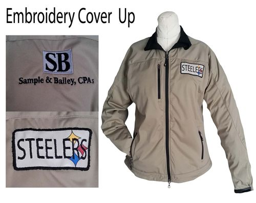 Steelers Patch - Upcycled Jacket Embroidey Cover Up Pic 12