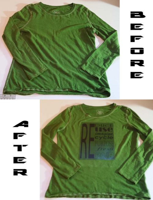 Before & After Heat Transfer T-shirt 3