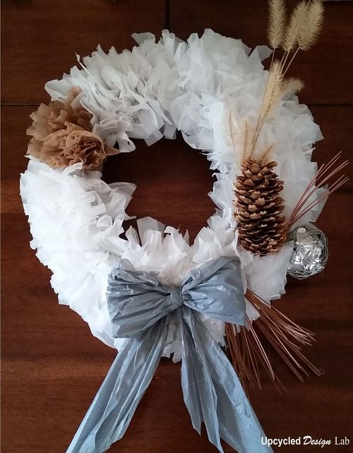 Upcycled Plastic Bag Wreath