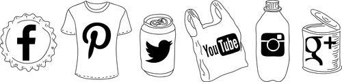 Social Media Button Set