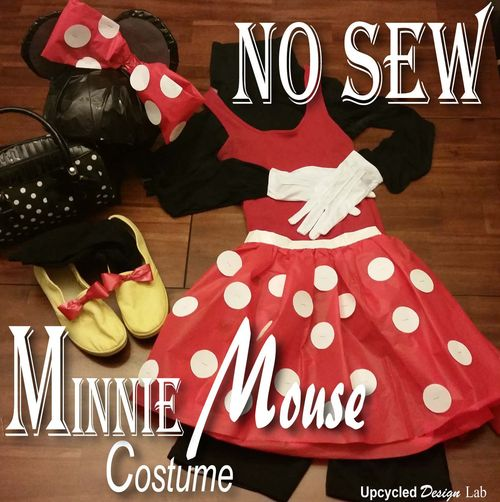 No sew diy minnie mouse costume my craft assistant you can make this costume using items you already have laying around your house click on the image below to view the tutorial yourself solutioingenieria Image collections