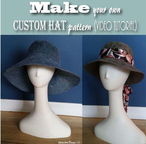 Aprenda a fazer um lindo chapéu utilizando uma velha calça jeans.