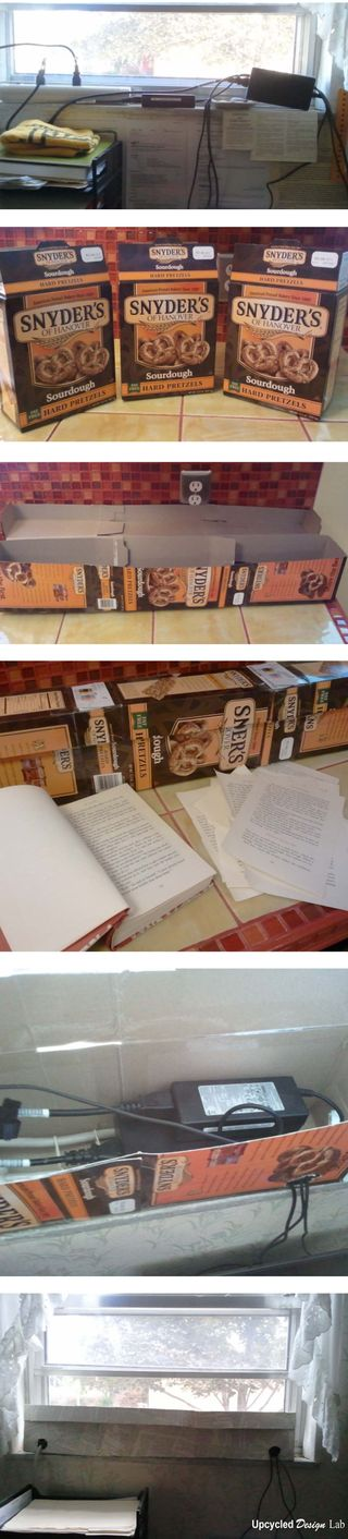 Book Page Paper Mache' Cord Box - Upcycled Books