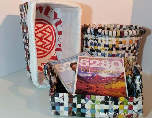 Woven Magazine Baskets 1a