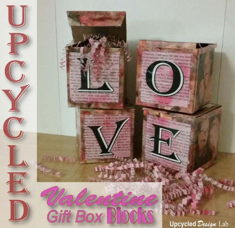 Valentine LOVE Box Blocks