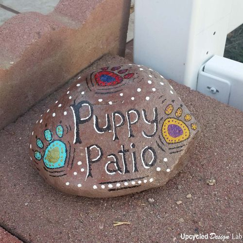 Painted Rock Puppy Patio Pic 15