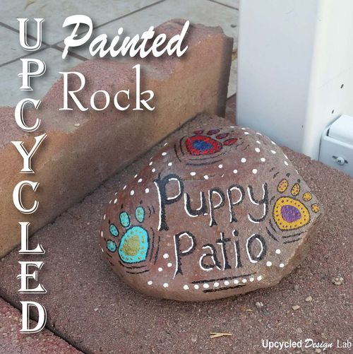 Painted Rock Puppy Patio