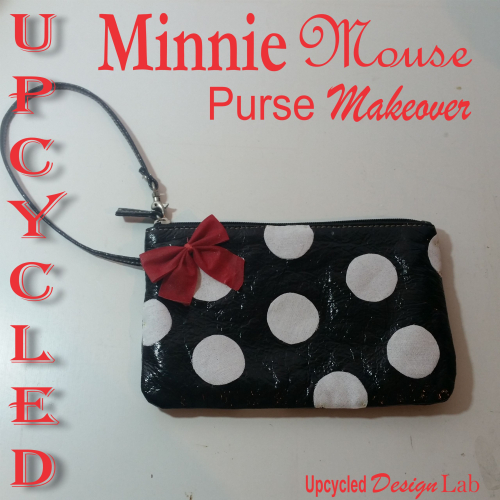 No Sew Minnie Mouse Purse Makeover