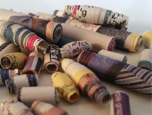 Upcycled Junk Mail Paper Bead Jewelry 3