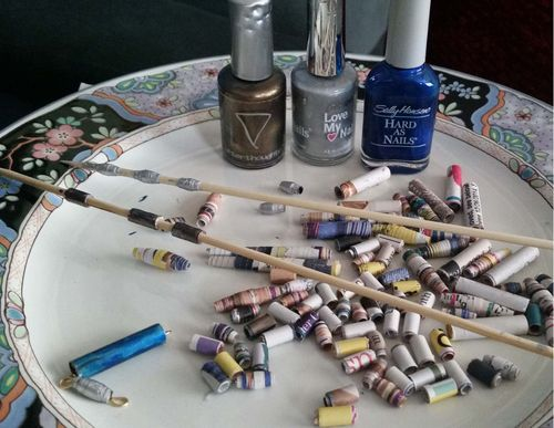 Upcycled Junk Mail Paper Bead Jewelry 4