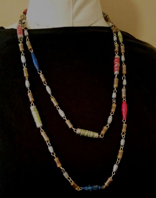 Upcycled Junk Mail Paper Bead Jewelry 21