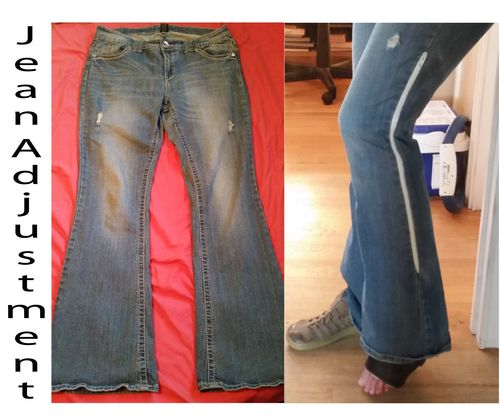 Jean Upcycled To Fit Over A Cast