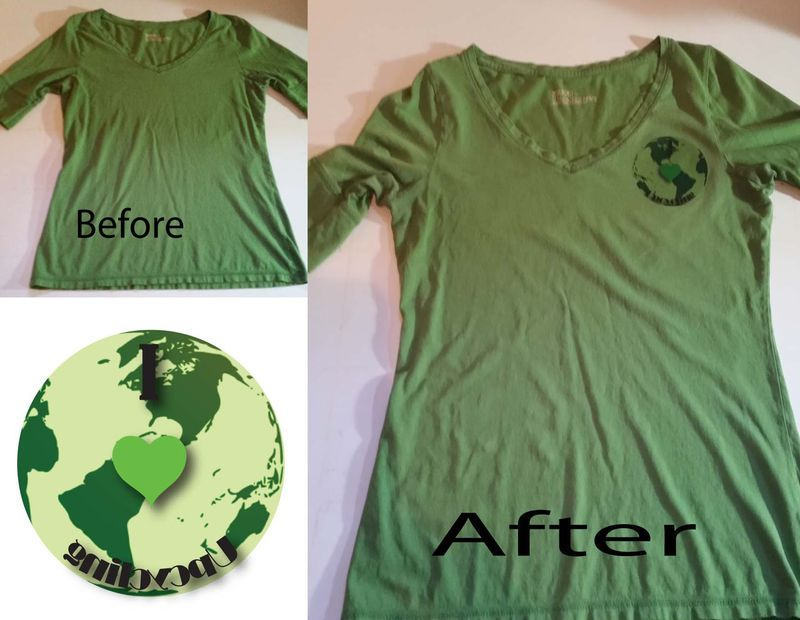 Before & After Heat Transfer T-shirt 1