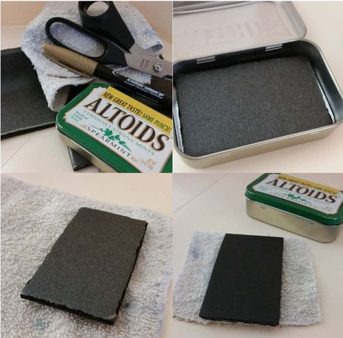 Upcycled Foam Stamp Pad 1