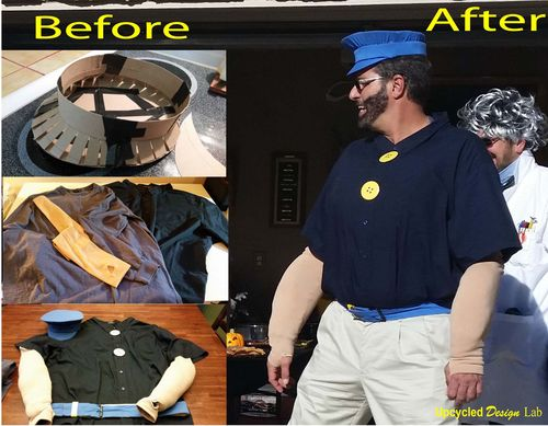 Brutus Costume before and after