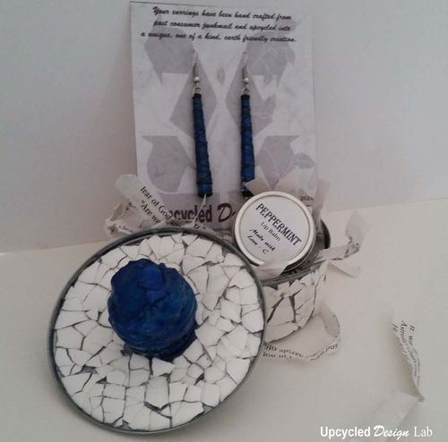 Upcycled Tun Tin Gift Basket 6