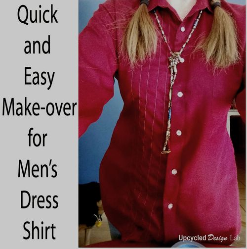Red dress shirt up cycle