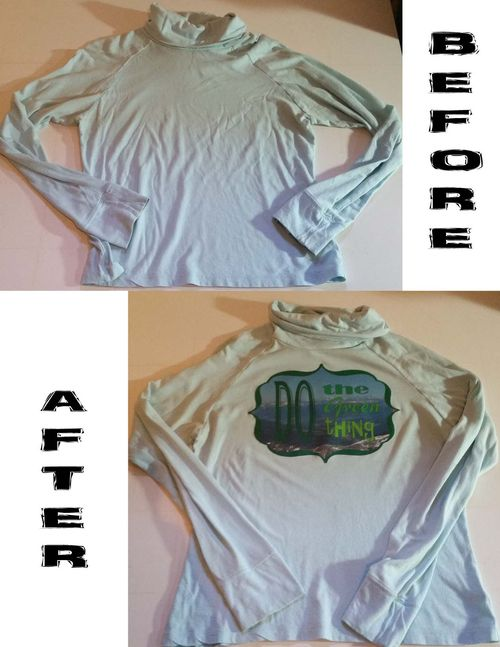 Before & After Heat Transfer T-shirt 2