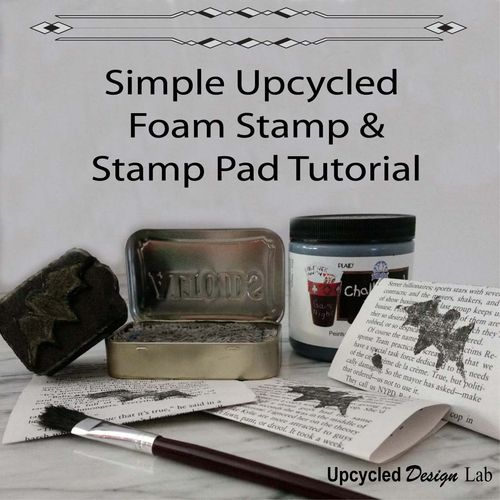 Easy Upcycled Stamp and Stamp Pad