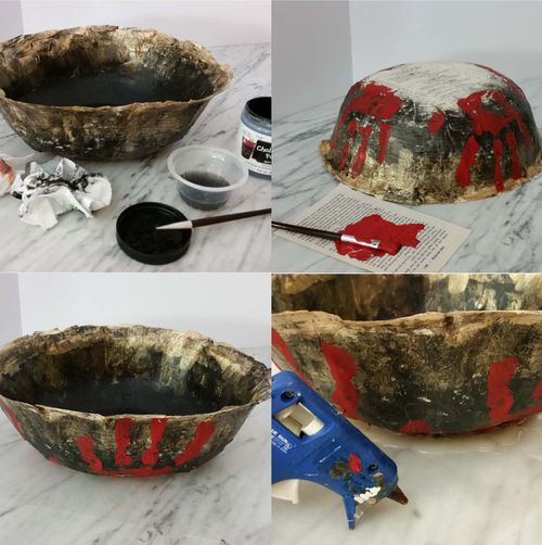 Bloody Paper Bowl Upcycled 2