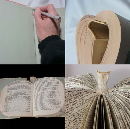 Upcycled Book Pumpkin Jack-o-Lantern 1