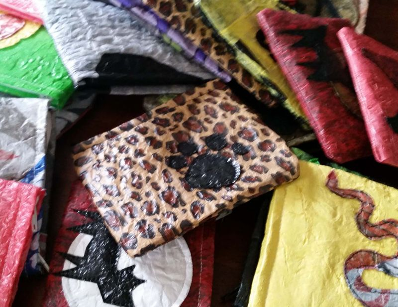 Upcycled Plastic Bag Coin Purses 1a