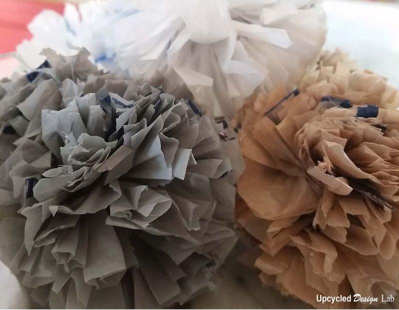 Upcycled Plastic Bag Pompom Balls