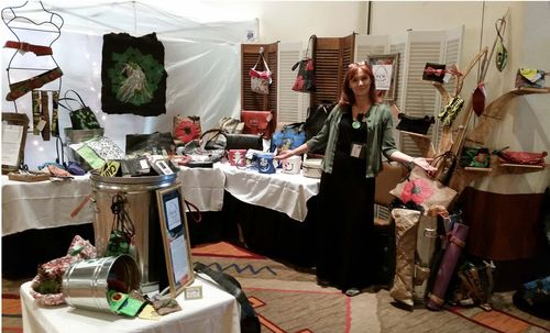 HFR Designs Booth at Recycle Santa Fe Art Festival
