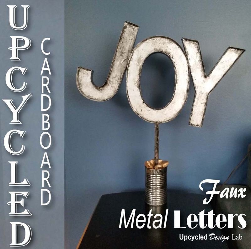 Upcycled Cardboard Faux Metal Letters