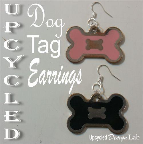 Dog Tag Earrings