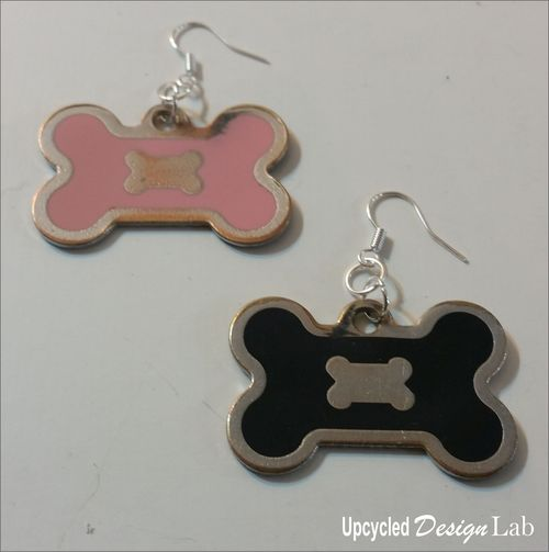 Dog Tag Earrings a