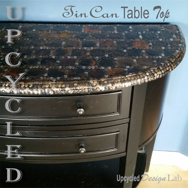 Upcycled Design Lab Blog Upcycled Tin Can Lid Table Top