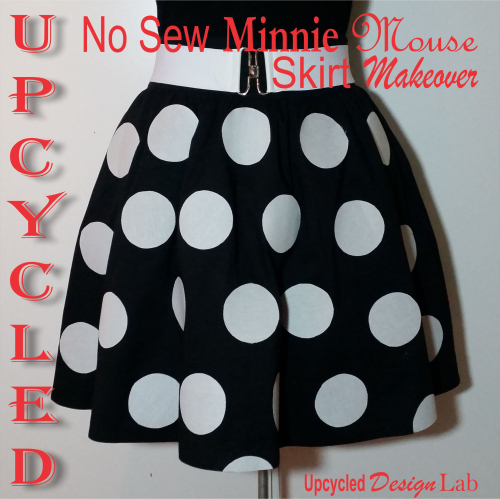 No Sew Minnie Mouse Skirt Makeover Pic 5