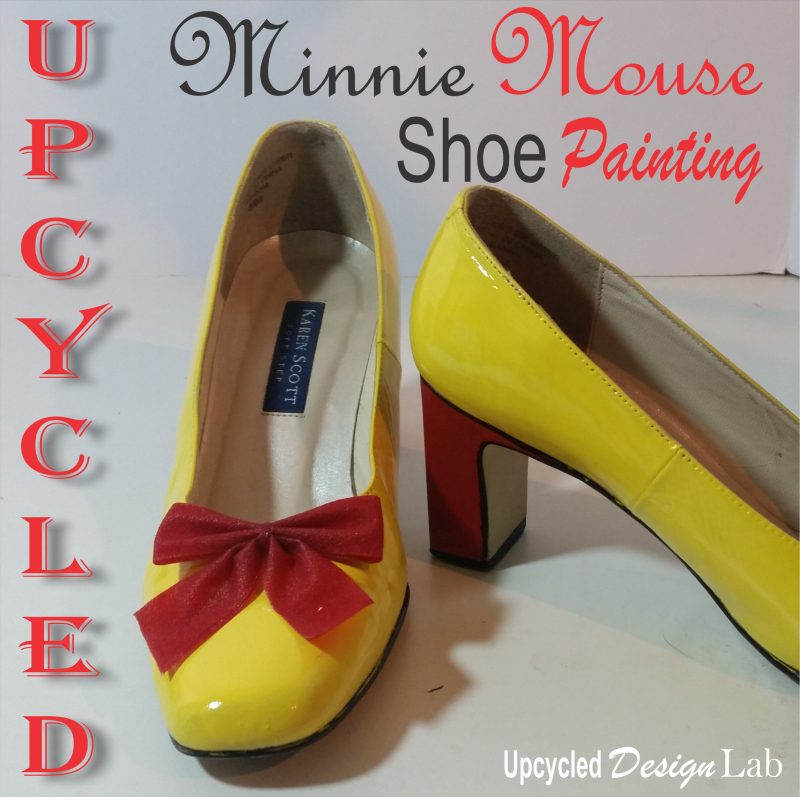 Minnie Mouse Shoe Makeover
